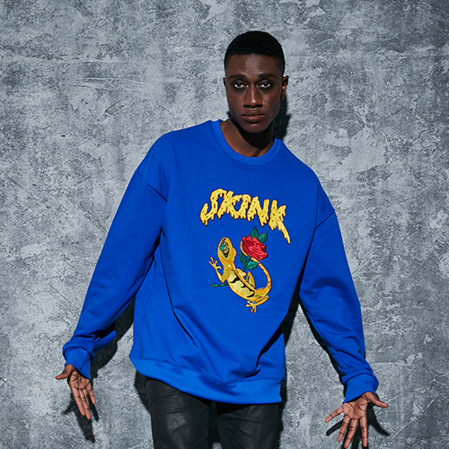 SKINK SWEAT SHIRTS_COBALT (50% 할인)
