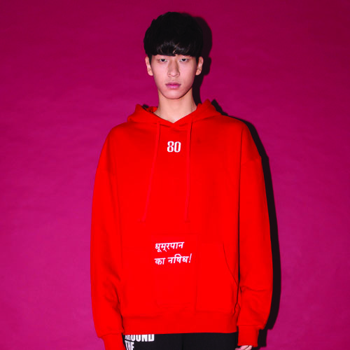THREE-POCKET HOODIE_RED_(20%할인)
