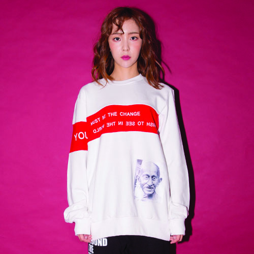 GANDHI SWEAT SHIRT_WHITE_(20%할인)