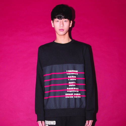 CITY-STRIPE SWEAT SHIRT_BLACK_(20%할인)
